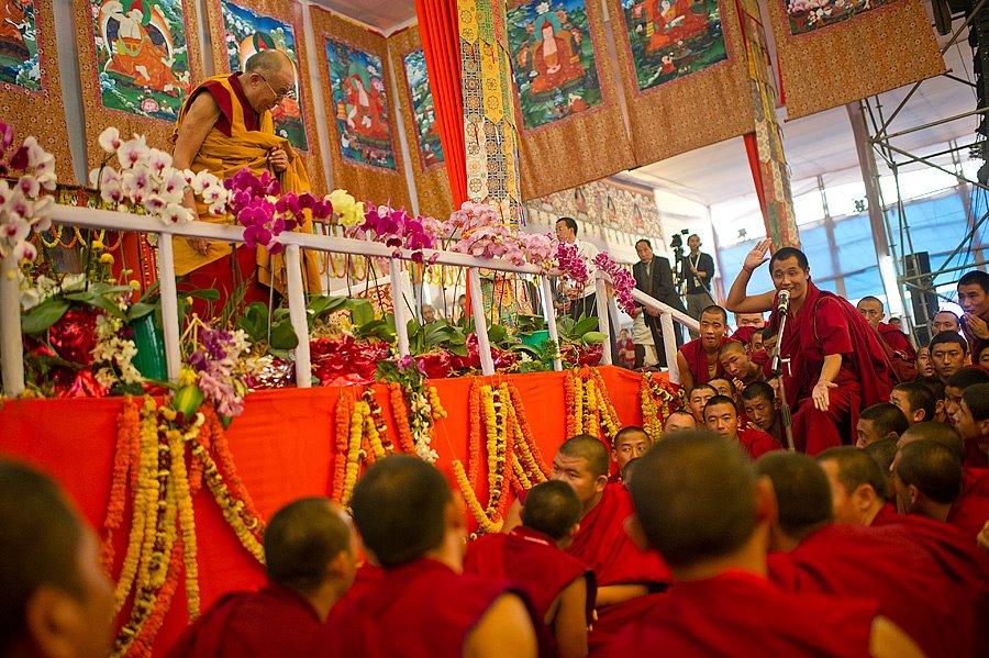 Dalai Lama at 31st Kalchakra Initiations at Bodh Gaya