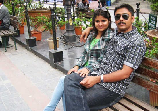 Narendra Kumar with his Wife Madhurani