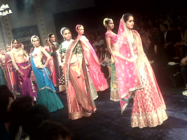 Lakme Fashion Week Models in Bridal Attire