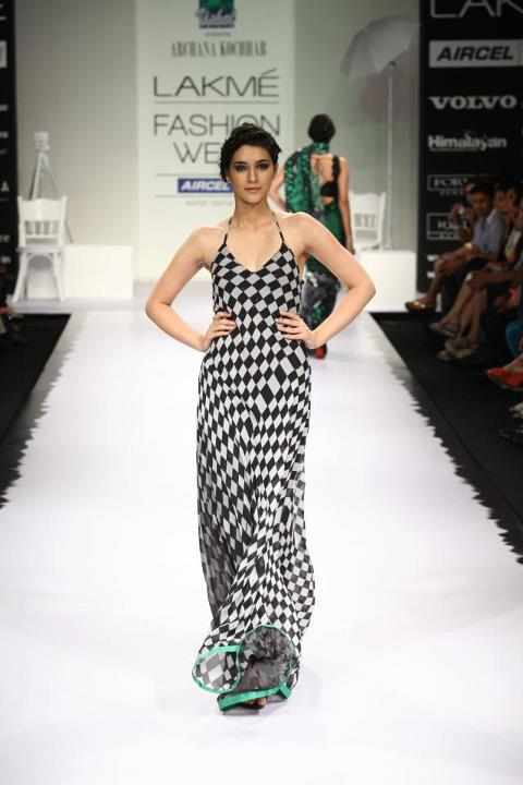 Model Ruchi Jain at Lakme Fashion Week 2012