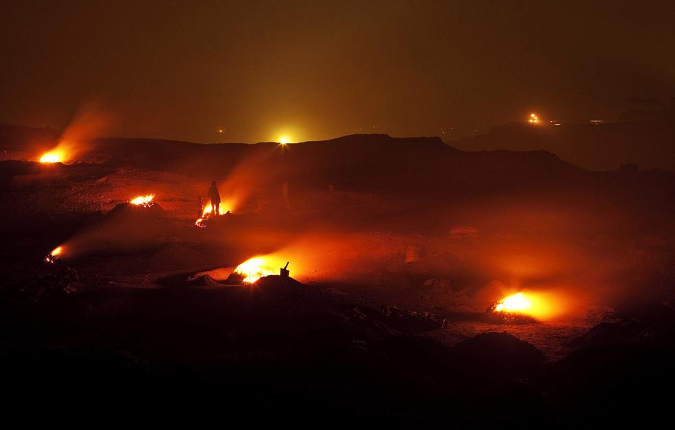 jharia underground coal mines fires pictures