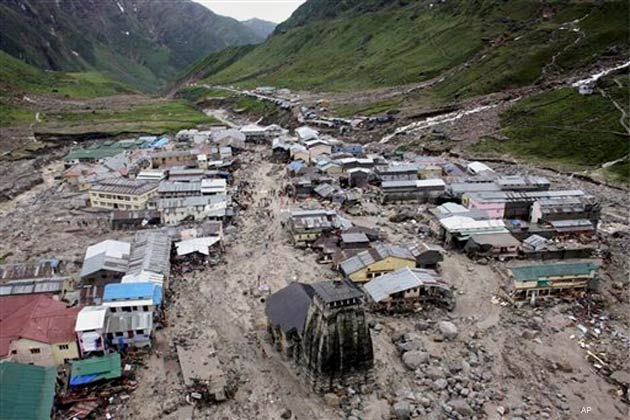 Aerial View of Kedarnath Shrine after Devastation