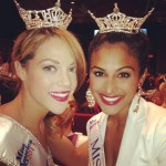 Miss NY Nina Davuluri with Miss Ohio