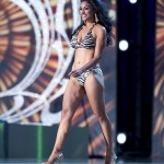 Nina Davuluri in Bikini during Miss America Pageant
