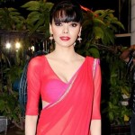 Sherlyn Chopra in Red hot Saree