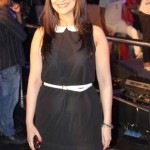 Model Candy Brar sizzling in Black dress
