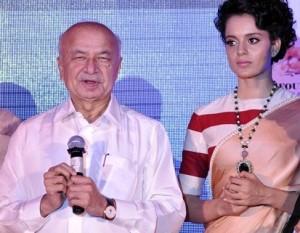 Sushil Kumar Shinde with Kangana Ranaut at Music Launch Party of Rajjo