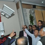 Nitish Kumar launching First Automatic Weather Station of Bihar