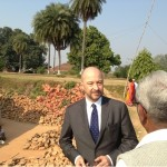 French Ambassador Francois Richier visiting Rural Bihar