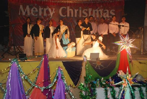 Girls Singing Christmas Carol in Patna