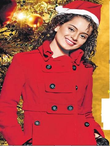 Kangana Ranaut dressed as Santa Claus