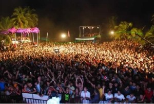 Participants at Sunburn Music Festival Goa