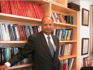 Prof Arogyaswami Joseph Paulraj in his Chamber at Stanford University