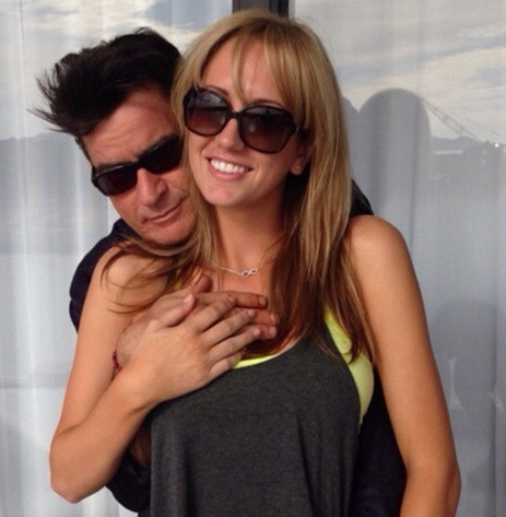 Actor Charlie Sheen with Fiance Brett Rossi