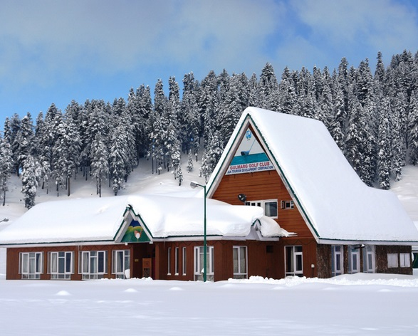 Snow Capped Gulmarg Golf Club during Winter