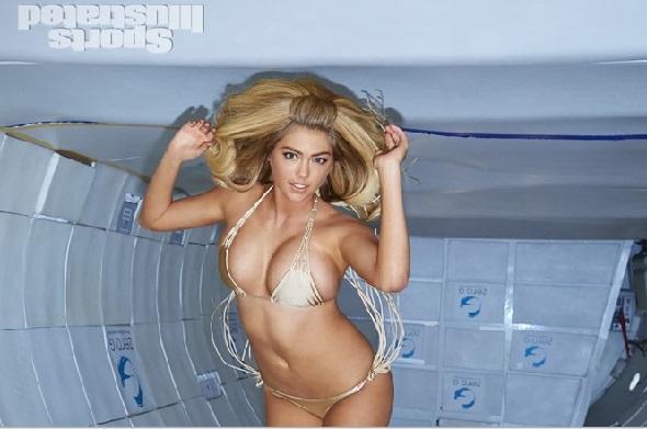 Kate Upton Does A Hot Swimwear Photoshoot In Zero Gravity