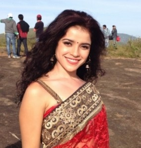 Actress Piaa Bajpai in Red Saree