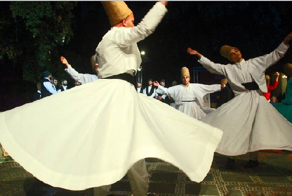Participants at an International Sufi Festival