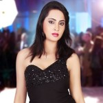 Arshi Khan looks Hot in Black Gown at Miss Maharashtra Global Tourism