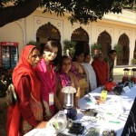 Dia Mirza with Female Solar Engineers of Rajasthan on Women's Day