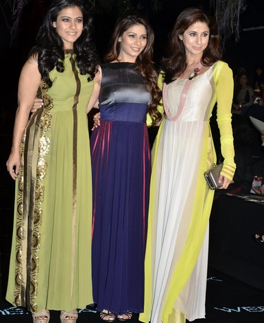 Kajol and Tanisha Mukherjee at Lakme Fashion Week Summer Resort 2014