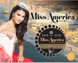 Nina Davuluri in poster for Miss America 2015