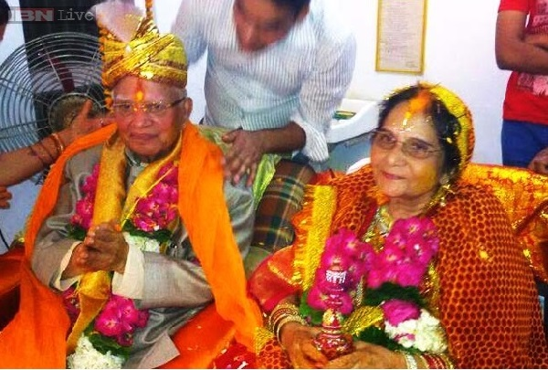 N D Tiwari and Ujjwala Sharma getting Married at Lucknow on May 14, 2014