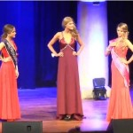 Olivia Aspland with Top 5 Contestants in evening gown