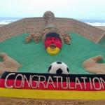 Sudarsan Pattnaik creates Sculpt to mark German Win in Football World Cup