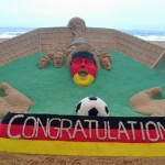 Sudarsan Pattnaik creates Sculpt to mark German Win in Football World Cup