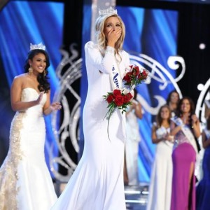 Kira Kazantsev after being crowned Miss America 2015