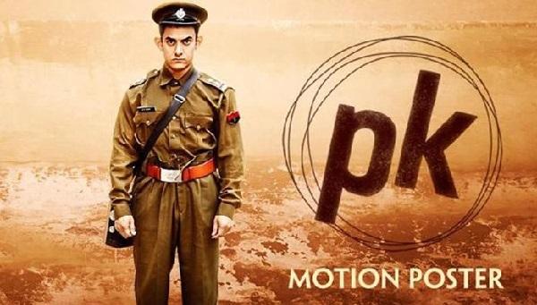Aamir Khan in the PK Movie Poster