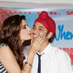 Monsoon Actress kisses her Co-star during promotional event