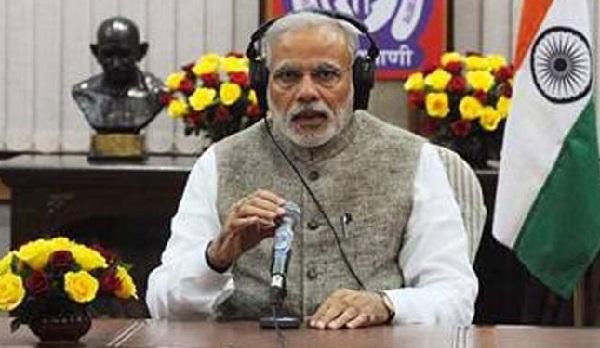Narendra Modi during an episode of Mann Ki Baat
