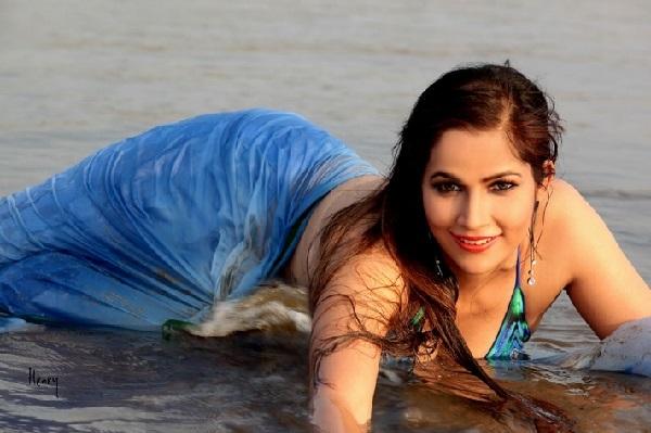 Tanisha Singh holidaying on a exotic Beach