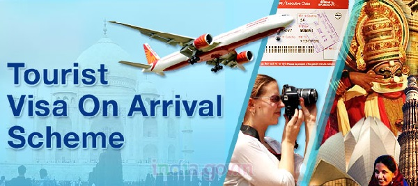 India had launched Tourist Visa on Arrival enabled by Electronic Travel Authorization on 27th November 2014 to 44 countries at nine airports