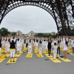 International Yoga Day celebrated at Foot of Eiffel Tower in Paris, France