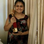 Ananya Nanda with the Trophy of Indian Idol Junior 2