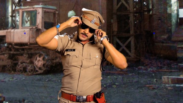 Raja Sagoo dressed as Chulbul Pandey